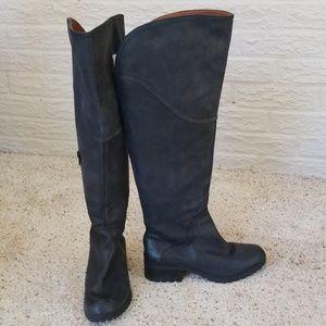 WIDE-CALF Lucky Thigh-high Black Riding boots sz 7